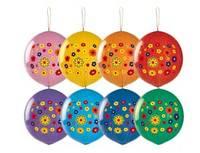 1104-0051 Панч-болл с рисунком Цветы многоцв