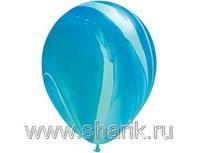 """1108-0341 Q 11"""" Супер Агат Blue"""