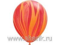 "1108-0344 Q 11"" Супер Агат Red Orange"