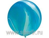 """1108-0350 Q 30"""" Супер Агат Blue"""