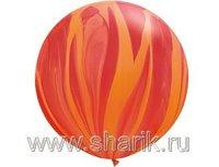 "1108-0352 Q 30"" Супер Агат Red Orange"