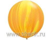"1108-0354 Q 30"" Супер Агат Yellow Orange"