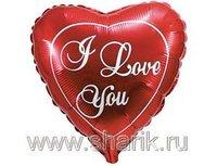 "1201-0135 Ф 9"" ILY Красное сердце(FM)"