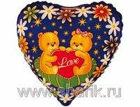 """1201-0151 Ф 9"""" Медвежата с сердечком(FM)"""