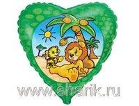 """1202-0445 Ф 18"""" Лев под пальмой(FM)"""