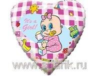 "1202-0460 Ф 18"" Младенец девочка(FM)"