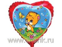 """1202-0463 Ф 18"""" Мышка с бабочкой(FM)"""