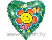 """1202-1090 Ф 18"""" Цветок улыбка/FM"""