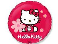 """1202-1790 Ф 18"""" Hello Kitty в цветочках/FM"""