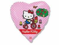 """1202-1791 Ф 18"""" Hello Kitty на велосипеде/FM"""