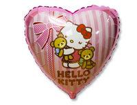 "1202-2038 Ф 18"" Hello Kitty с медвежатами/FM"