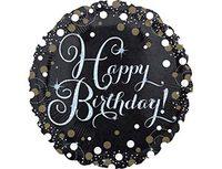 """1202-2719 А 18"""" HB Sparkling Birthday gold S55"""