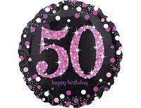 """1202-2720 А 18"""" HB Sparkling Birthday 50 pink S55"""