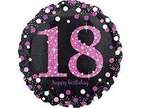 """1202-2723 А 18"""" HB Sparkling Birthday 18 pink S55"""