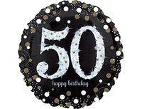 """1202-2724 А 18"""" HB Sparkling Birthday 50 gold S55"""