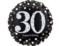 """1202-2725 А 18"""" HB Sparkling Birthday 30 gold S55"""