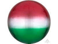 """1209-0309 А 3D СФЕРА Б/РИС 16"""" Омбре Красно-зелен"""