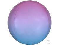 "1209-0304 А 3D СФЕРА Б/РИС 16"" Омбре Розово-голуб"