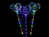 "1204-0853 Шар светящ LED BOBO Сердце Ажур 18"""