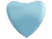 """1204-0874 Р Б/РИС СЕРДЦЕ 18"""" Пастель Cool Blue"""