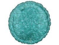 """1204-1152 А Б/РИС КРУГ 18"""" Пайетки Ocean Blue"""