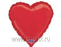 """1205-0060 А Б/РИС БЛЕСК СЕРДЦЕ 18"""" Red"""