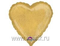 "1205-0061 А Б/РИС БЛЕСК СЕРДЦЕ 18"" Gold"