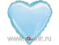 """1204-0038 А Б/РИС СЕРДЦЕ 18"""" Пастель Blue"""