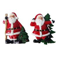 Магнит Дед Мороз с елкой 7см