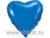 "1204-0170 Ф Б/РИС 9"" СЕРДЦЕ Металлик Blue(FM)"