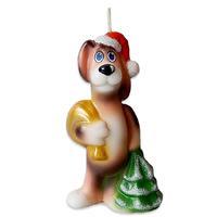 Свеча новогодняя Собака с мешком 10см