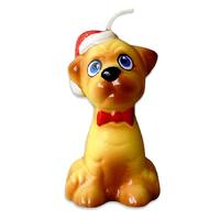 Свеча новогодняя Собачка Мопс 6см
