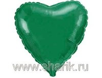 """1204-0172 Ф Б/РИС 9"""" СЕРДЦЕ Металлик Green(FM)"""