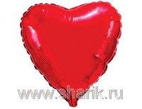 "1204-0174 Ф Б/РИС 9"" СЕРДЦЕ Металлик Red(FM)"