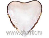 "1204-0175 Ф Б/РИС 9"" СЕРДЦЕ Металлик Silver(FM)"