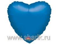 "1204-0031 А Б/РИС СЕРДЦЕ 18"" Металлик Blue"