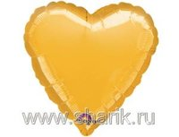 "1204-0032 А Б/РИС СЕРДЦЕ 18"" Металлик Gold"