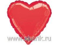 "1204-0034 А Б/РИС СЕРДЦЕ 18"" Металлик Red"