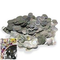 AC Конфетти 100гр 2см фольгированное Круги серебро