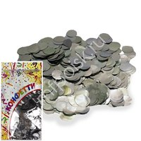 AC Конфетти 300гр 2см фольгированное Круги серебро