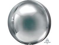 "1209-0264 А 3D СФЕРА Б/РИС 21"" Металлик Silver"