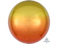 "1209-0268 А 3D СФЕРА Б/РИС 16"" Омбре Желто-оранжев"