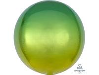 """1209-0269 А 3D СФЕРА Б/РИС 16"""" Омбре Желто-зеленый"""