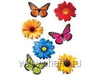 1401-0151 Баннер-комплект Бабочки Цветы асс 12шт/А