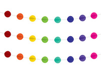 1404-0443 Гирлянда-шары бум радужная 3м/G