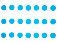 1404-0516 Гирлянда н/нитке Круги голубые 2,2м