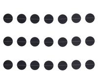 1404-0517 Гирлянда н/нитке Круги чёрные 2,2м
