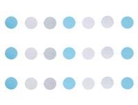 1404-0521 Гирлянда н/нитке Круги Нежные голуб 2,2м