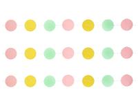 1404-0523 Гирлянда н/нитке Круги Сорбет блеск 2,2м