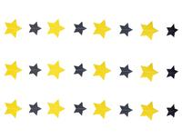 1404-0526 Гирлянда н/нитке Звёзды Black&Gold 2,2м